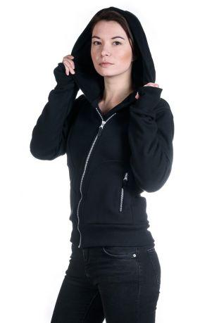 The Bassmen Bio-Baumwolle zip off Damen-sweatshirt