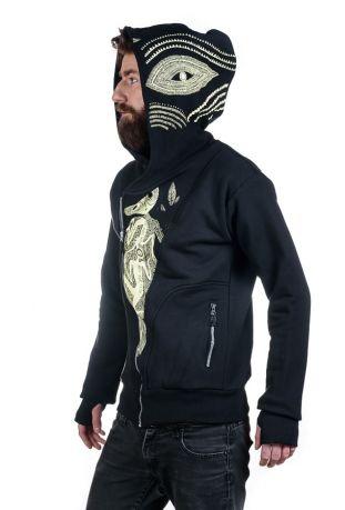 SLOGAN The Eye Bio-Baumwolle Zip off Herren-sweatshirt