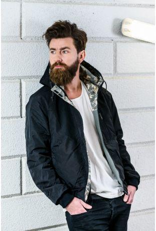 Anti dwustronna kurtka męska camuflage bawełna organiczna