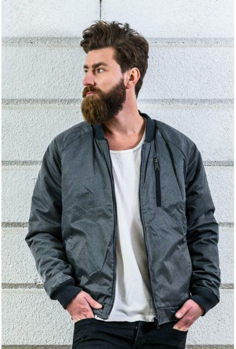 Reverse dwustronna kurtka męska bawełna organiczna grey