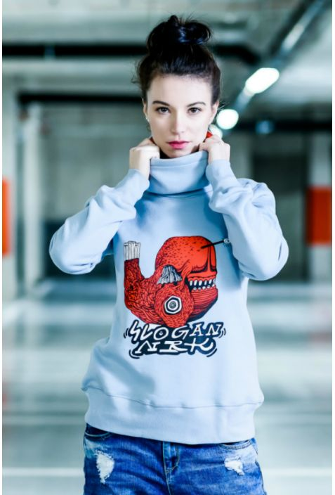 Poppy fish bluza damska by Niebieski Robi Kreski