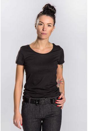 slogan basic damen t shirt wei regul r passen bio. Black Bedroom Furniture Sets. Home Design Ideas