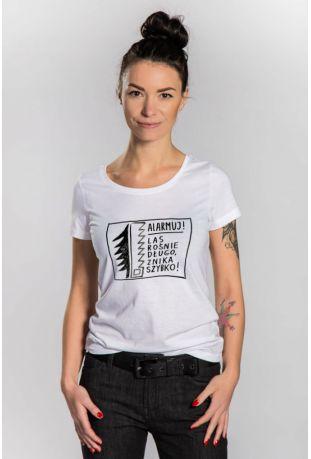 OBÓZ DLA PUSZCZY ekologiczna koszulka damska