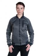 Reverse dwustronna kurtka damska z bawełny organicznej grey