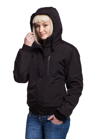 Anti dwustronna kurtka damska black bawełna organiczna