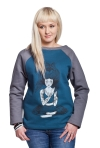 SLOGAN Devi Bio-Baumwolle Damen-sweatshirt XS