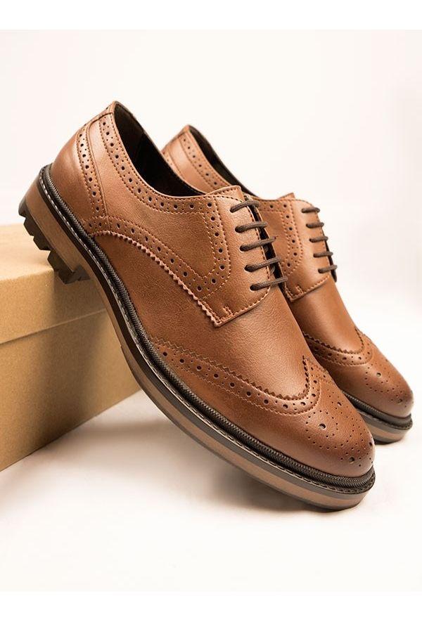 Will's Vegan Shoes Continental Brogues Tan