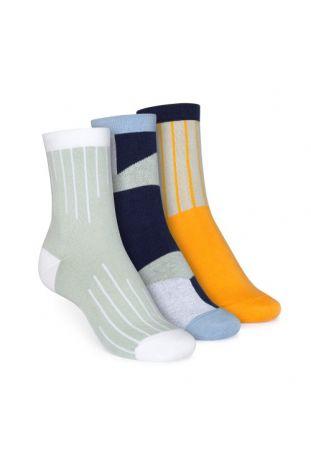 ThokkThokk Mid-Top Socken Grading/Geometric/Vertical Fairtrade & GOTS Bio Baumwolle