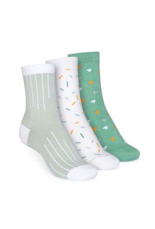 ThokkThokk 3er Pack Mid-Top Socken Colour Grading/Sprinkles/Wood Worker GOTS & Fairtrade