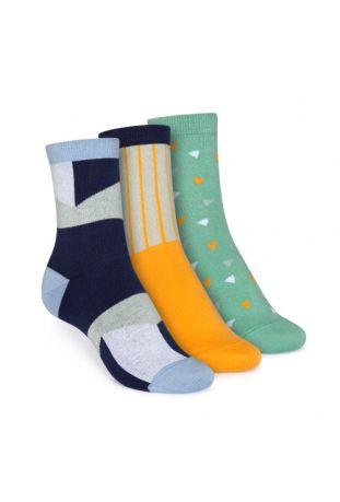 ThokkThokk Mid-Top Socken Geometric/Vertical/Wood Worker Fairtrade & GOTS Bio Baumwolle