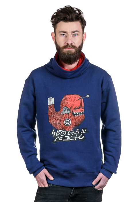Poppy Fish bluza męska by Niebieski Robi Kreski