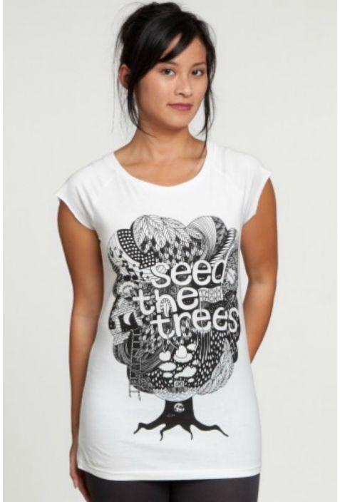 ThokkThokk Seedthetrees koszulka damska Fairtrade z nadrukiem
