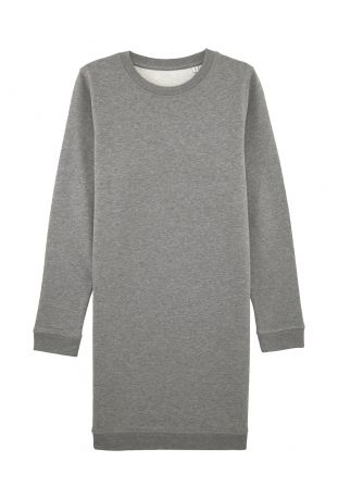 SLOGAN Rose grey melange sukienka damska bawełna organiczna