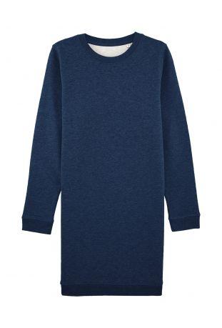 SLOGAN Rose dark blue melange sukienka damska bawełna organiczna