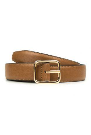 WILL'S Vegan Geometric 3cm Belt Tan