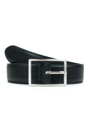 WILL'S Vegan Geometric 3.5cm Belt Black
