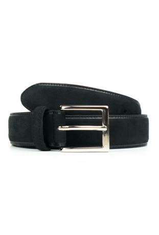 WILL'S Vegan Continental 3.5cm Belt Black