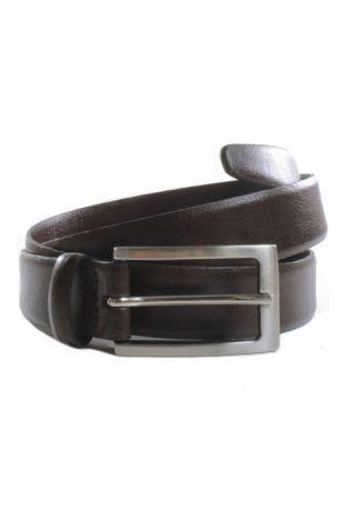 WILL'S Vegan Classic 3cm Belt Dark Brown