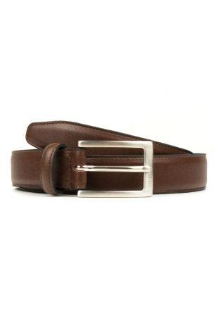 WILL'S Vegan Classic 3cm Belt Chestnut