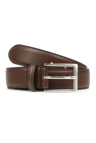 WILL'S Vegan Classic 3.5cm Belt Chestnut