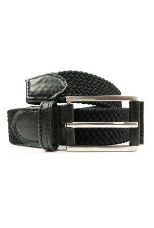 WILL'S Vegan 3.5cm Woven Belt Black