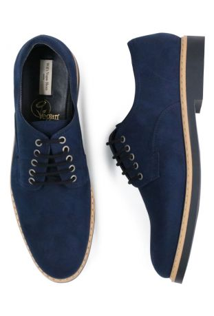WILL'S Signature Derbys Dark Blue Wegańskie Derby Męskie