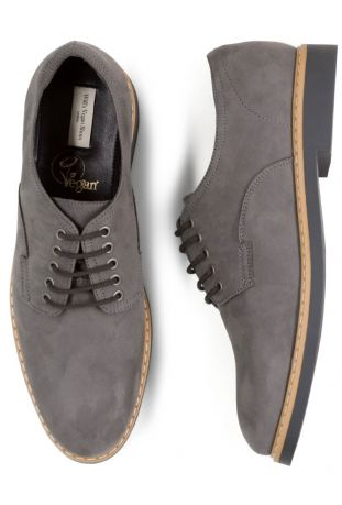 WILL'S Signature Derbys Grey Wegańskie Derby Męskie