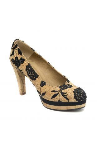 NAE Cork Pump vegan woman shoes