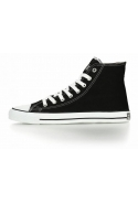 TRAMPKI WEGAŃSKIE FAIR WHITE CUT HI CUT JET BLACK
