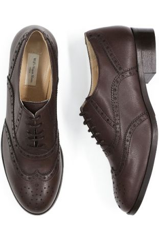 WILL'S VEGAN SHOES OXFORD BROGUES DARK BROWN