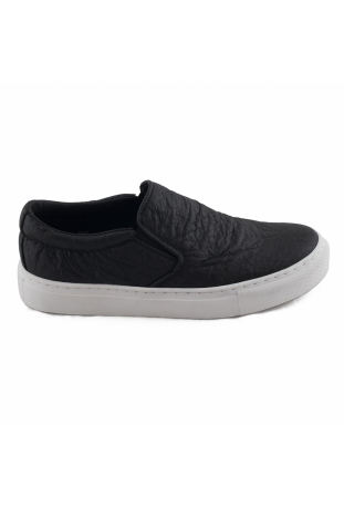 BARE BLACK SNEAKERS SLIP-ON PINATEX™