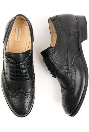 Will's City Wingtip Brogue Oxfords wegańskie buty męskie black