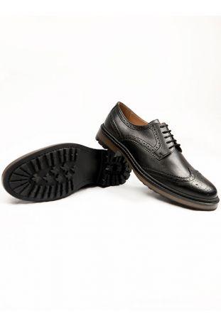 Will's Continental Brogues Men's Vegan Shoes Black