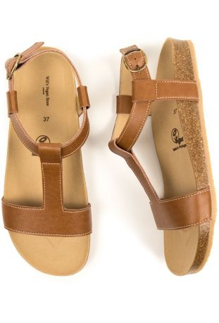 Will's Footbed Vegan Womens Sandals Tan