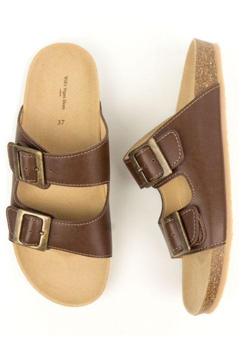Will's Two Strap Footbed wegańskie sandały damskie chestnut