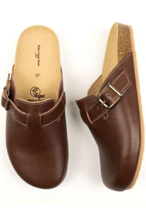 Will's Clog Footbed wegańskie sandały damskie chestnut