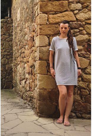 SLOGAN MAGNOLIA ORGANIC COTTON WOMEN'S DRESS