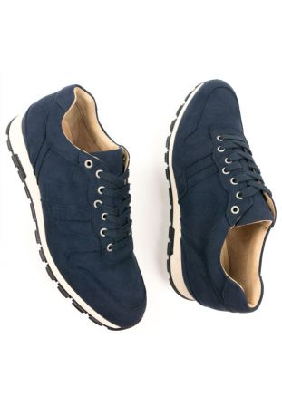 Will's Vegan Milan Trainers Dark Blue