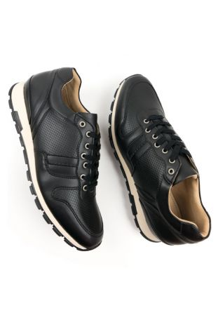 Will's Vegan Milan Trainers Black