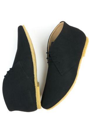 WILL's Crepe Sole Desert Wegańskie buty męskie Black