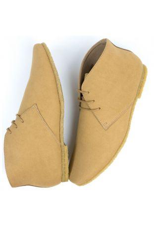 WILL's Vegan Crepe Sole Desert Boots Sand
