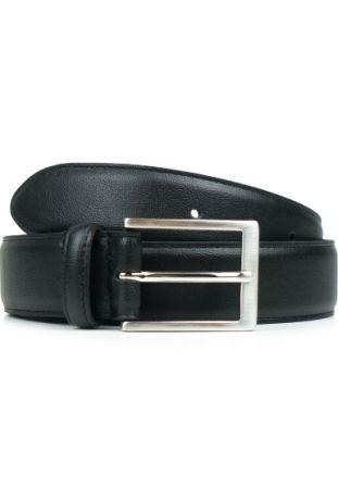 WILL'S Vegan Classic 3.5cm Belt Black