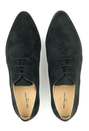 WILL'S Point Toe Derbys Black Wegańskie Derby Damskie