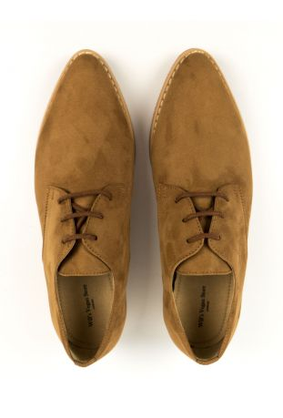 WILL'S Point Toe Derbys Brown Wegańskie Derby Damskie