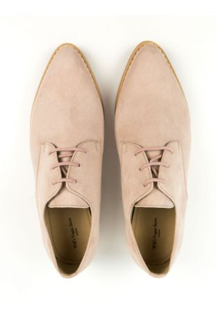 WILL'S Point Toe Derbys Pink Wegańskie Derby Damskie