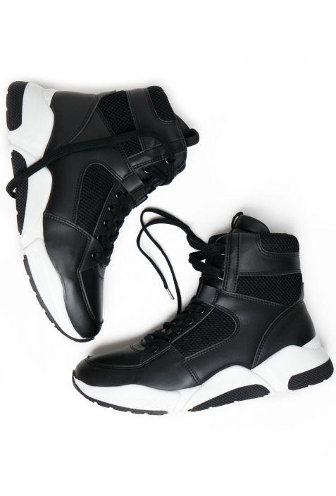 Will's Chicago High-Tops Black Wegańskie Sneakersy Damskie